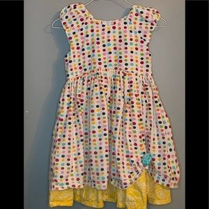 Jelly the Pug Spring Bling Kaitlin Dot Dress sz7